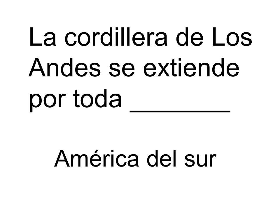 La cordillera de Los Andes se extiende por toda _______