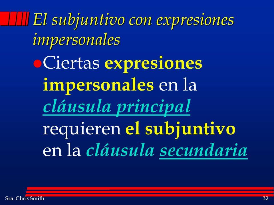 El subjuntivo con expresiones impersonales