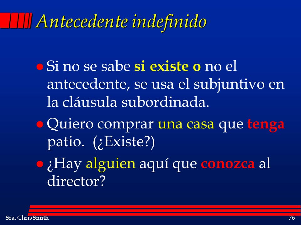 Antecedente indefinido