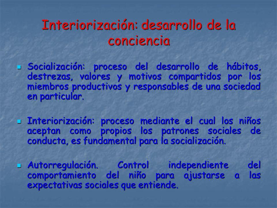 Interiorización: desarrollo de la conciencia