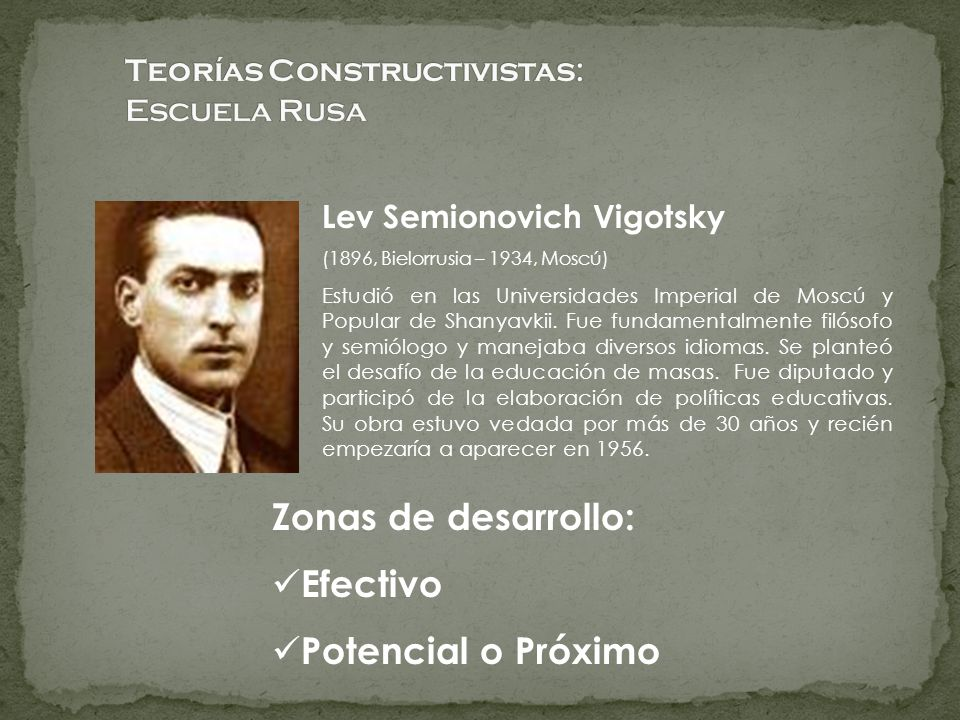 Teorías Constructivistas: Escuela Rusa