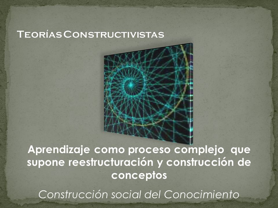 Teorías Constructivistas