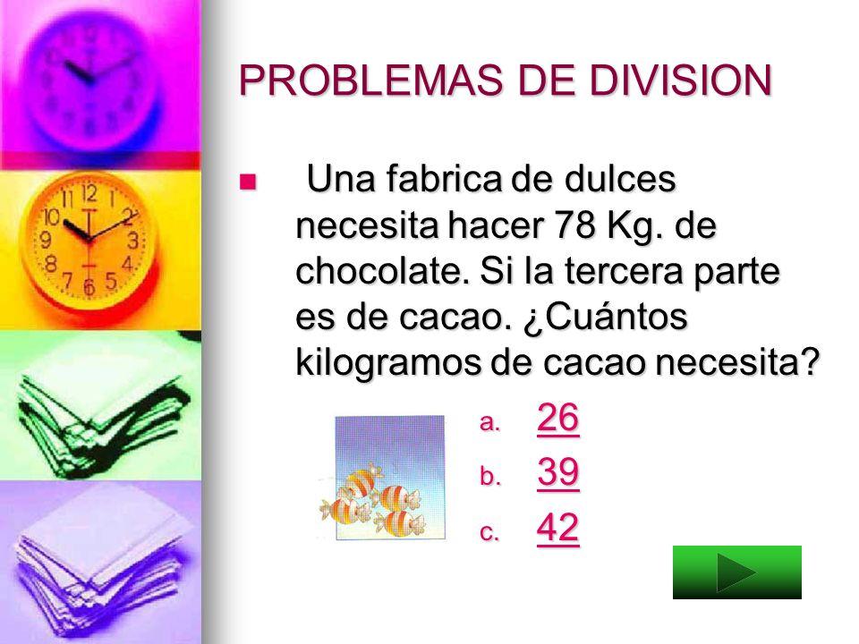 PROBLEMAS DE DIVISION