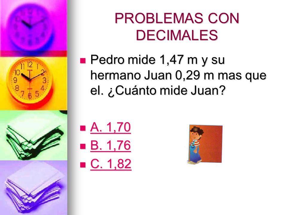 PROBLEMAS CON DECIMALES