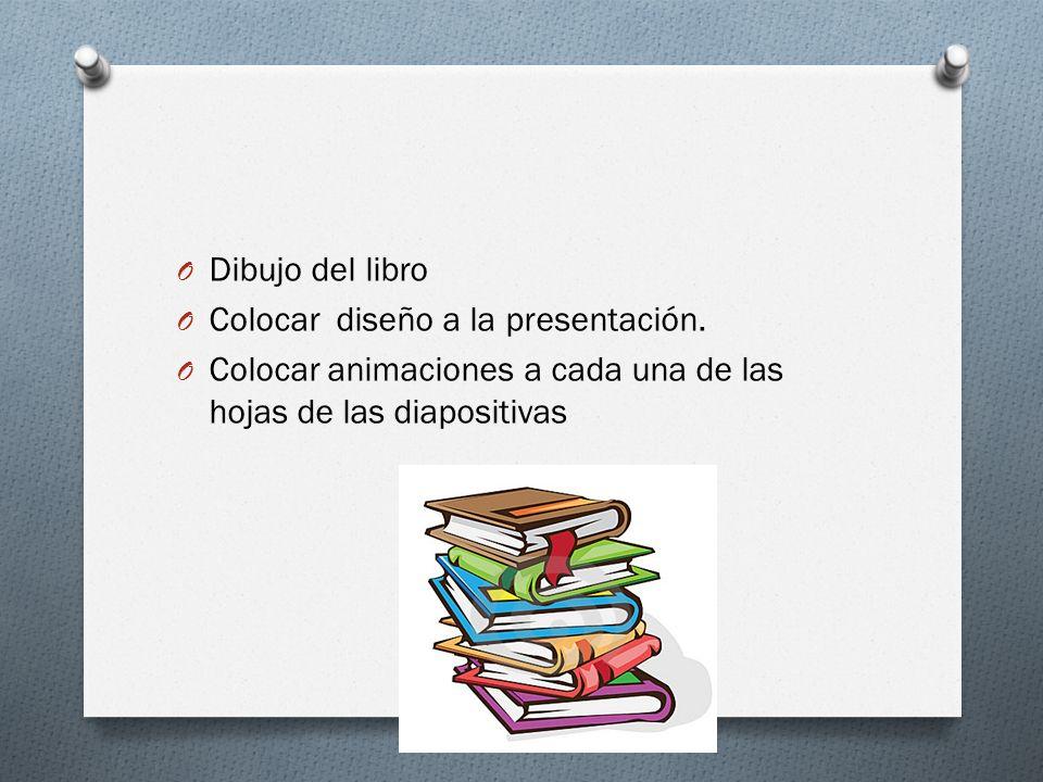 Dibujo del libro Colocar diseño a la presentación.