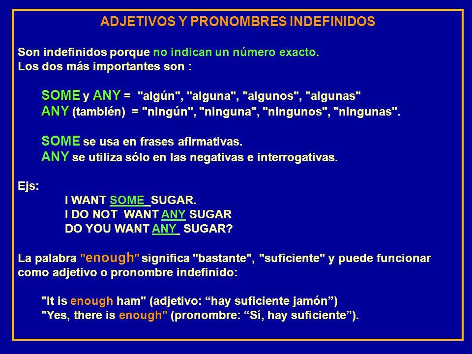 ADJETIVOS Y PRONOMBRES INDEFINIDOS