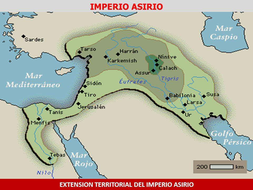 EXTENSION TERRITORIAL DEL IMPERIO ASIRIO