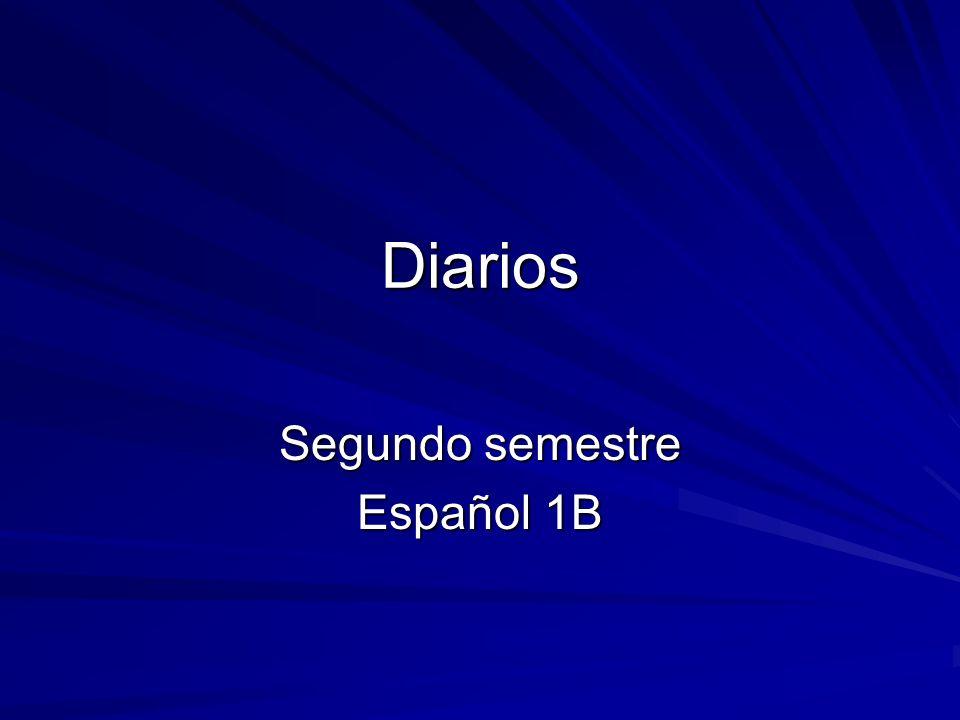 Segundo semestre Español 1B