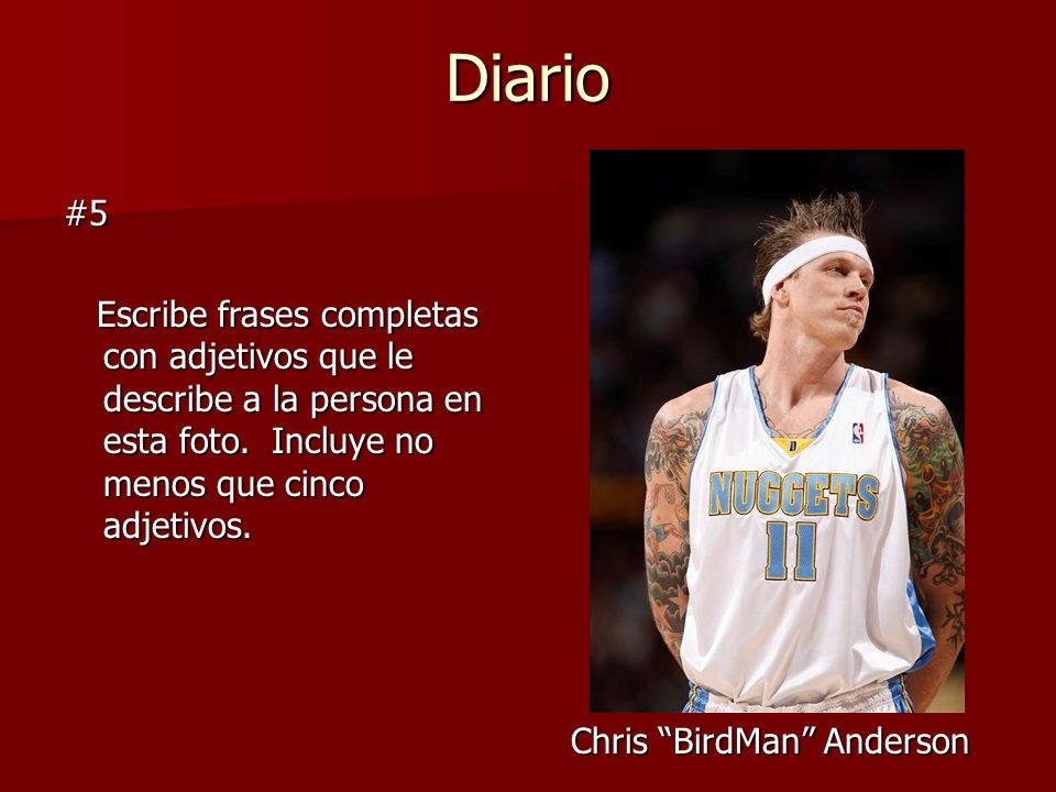 Chris BirdMan Anderson