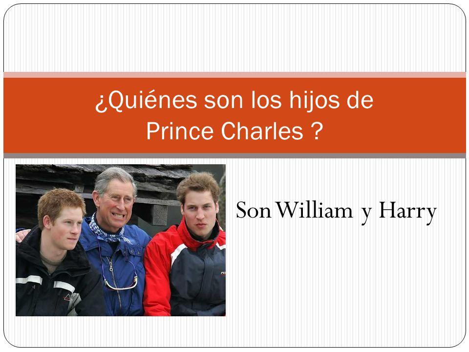 ¿Quiénes son los hijos de Prince Charles