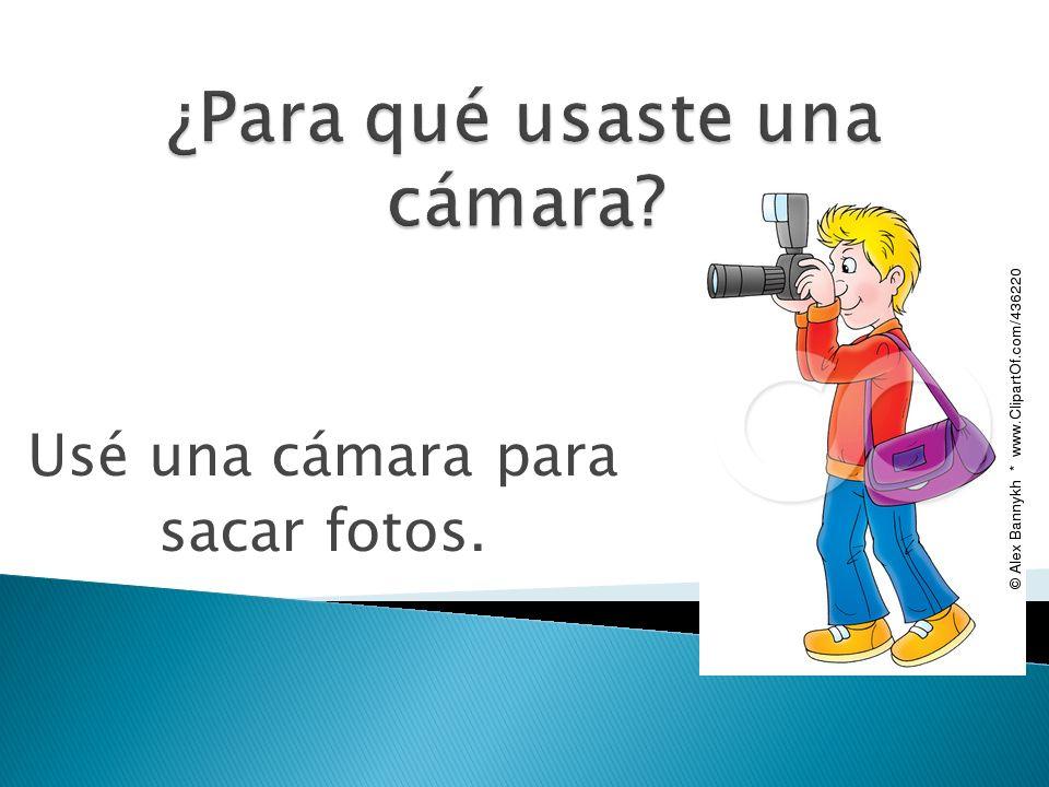 ¿Para qué usaste una cámara