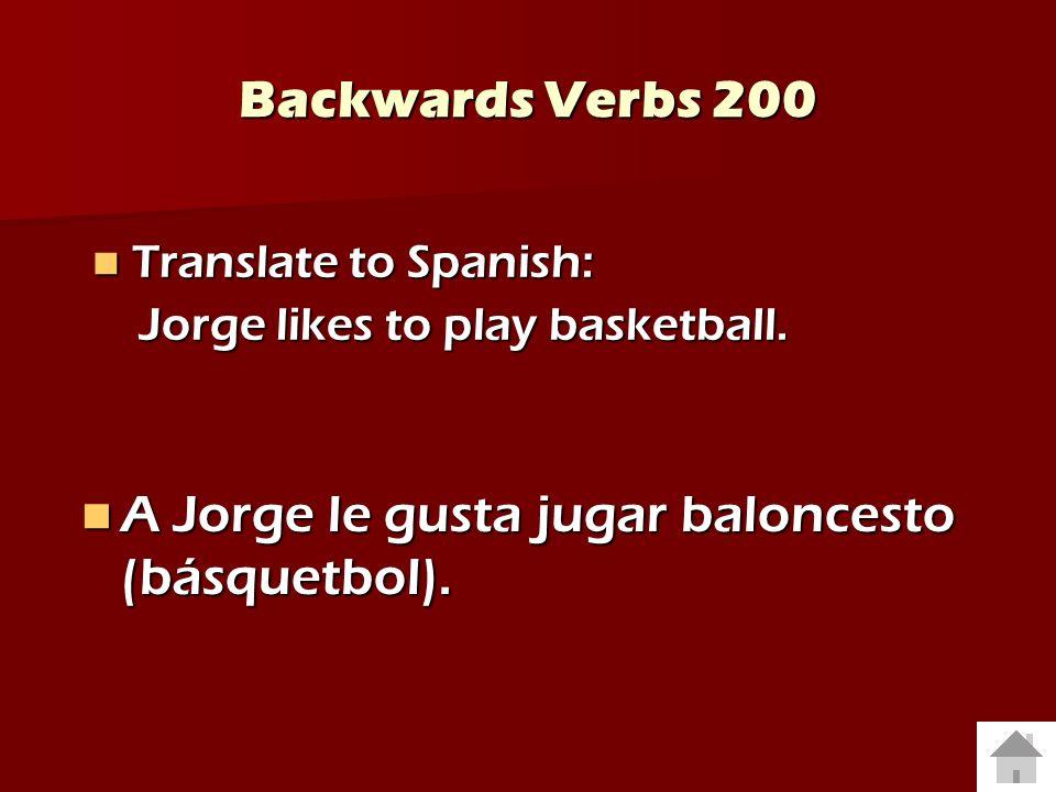 A Jorge le gusta jugar baloncesto (básquetbol).