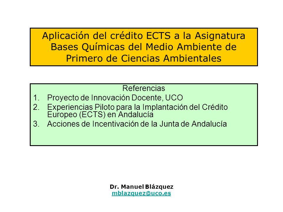 Dr. Manuel Blázquez mblazquez@uco.es