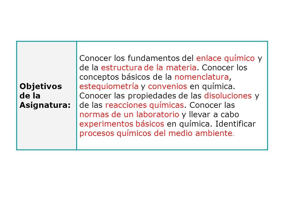 Objetivos de la Asignatura: