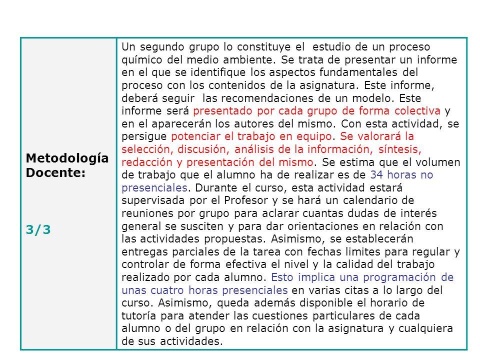 Metodología Docente: 3/3