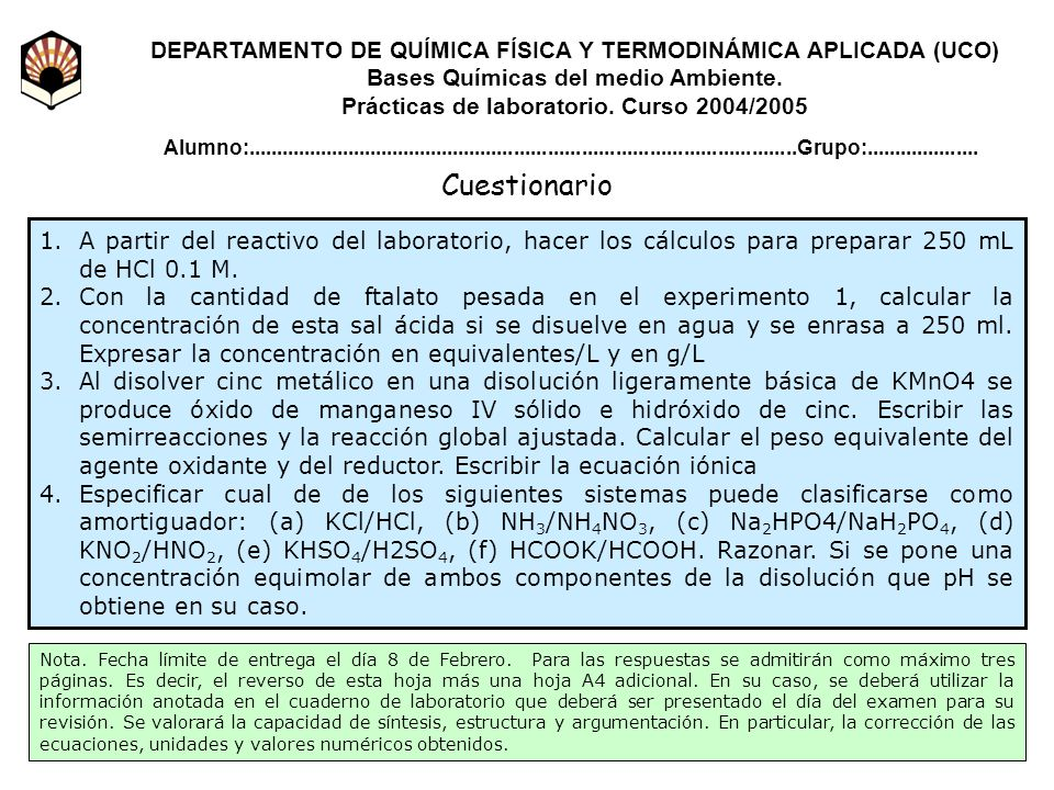 DEPARTAMENTO DE QUÍMICA FÍSICA Y TERMODINÁMICA APLICADA (UCO)