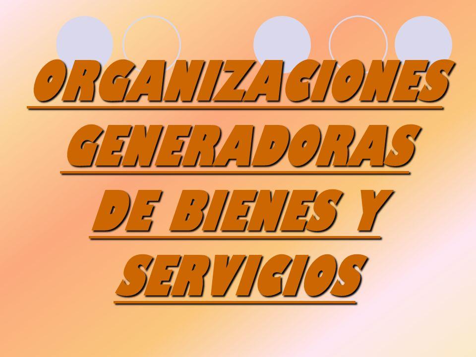 ORGANIZACIONES GENERADORAS DE BIENES Y SERVICIOS