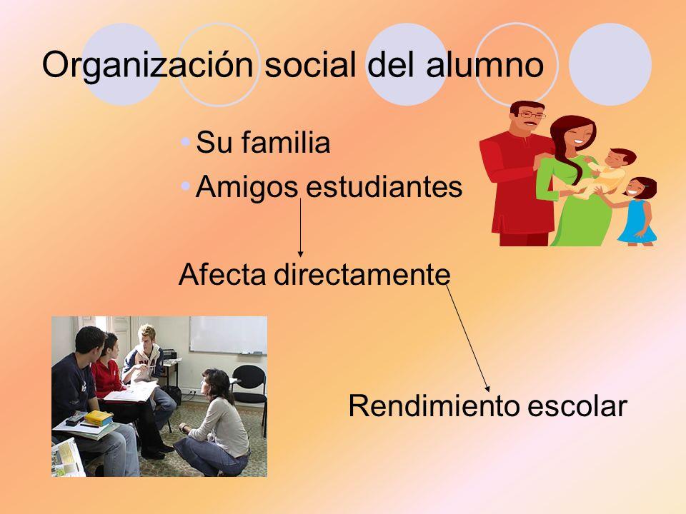 Organización social del alumno