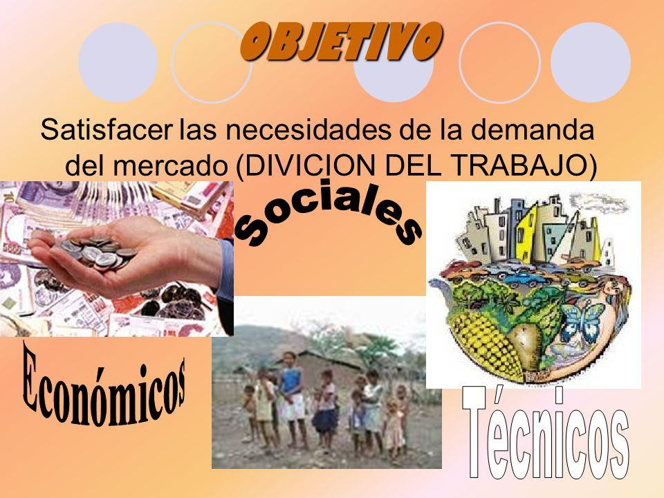OBJETIVO Sociales Económicos Técnicos