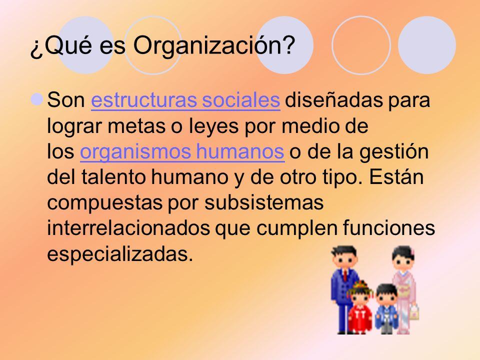 ¿Qué es Organización