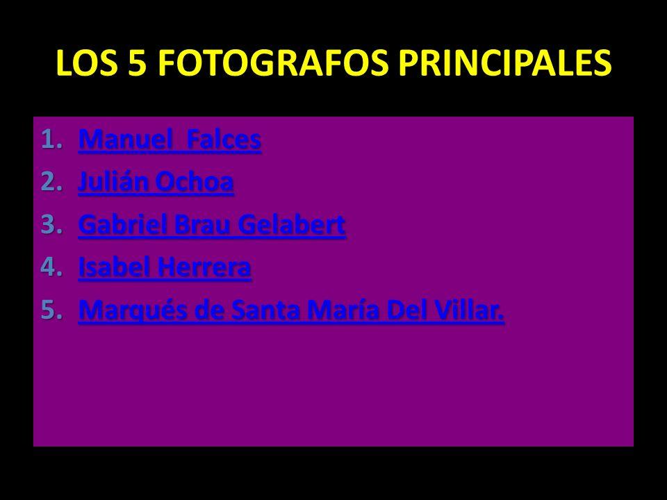 LOS 5 FOTOGRAFOS PRINCIPALES
