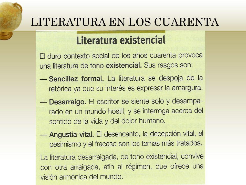 LITERATURA EN LOS CUARENTA