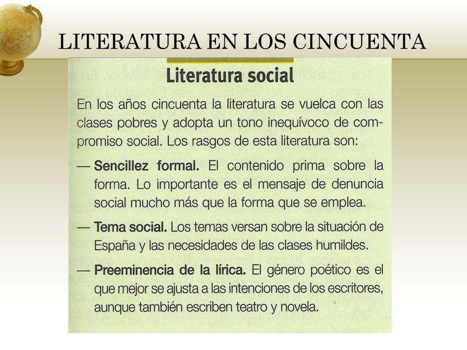 LITERATURA EN LOS CINCUENTA