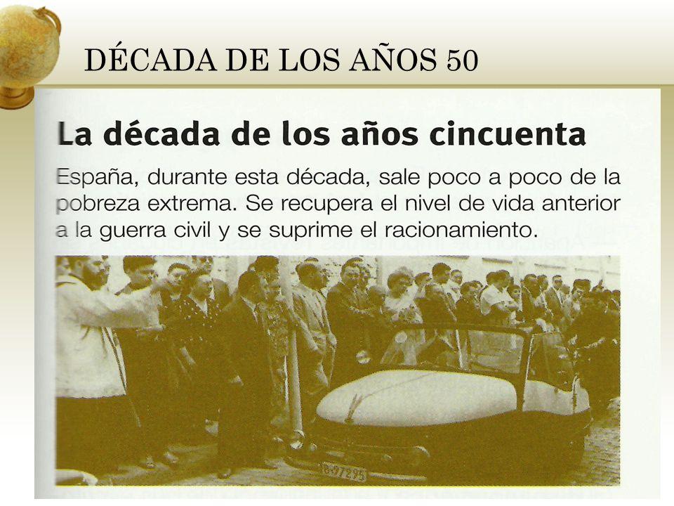 DÉCADA DE LOS AÑOS 50 Inserta una imagen que ilustre una de las estaciones del año en tu país.