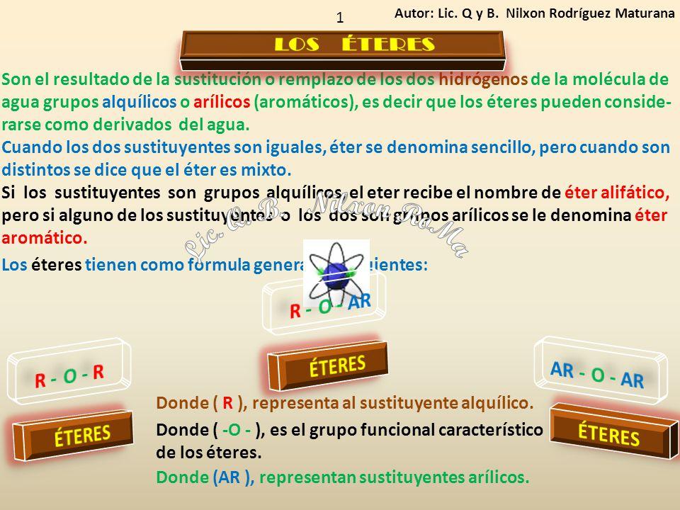 Lic. Q. B. Nilxon RoMa LOS ÉTERES R - O - AR ÉTERES R - O - R