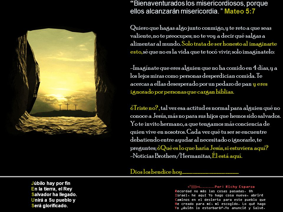 <°))))))><……………Por: Richy Esparza