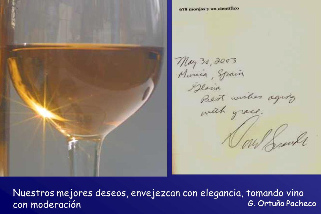 Nuestros mejores deseos, envejezcan con elegancia, tomando vino con moderación