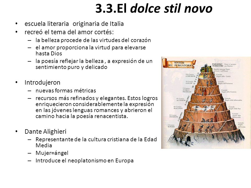 3.3.El dolce stil novo escuela literaria originaria de Italia