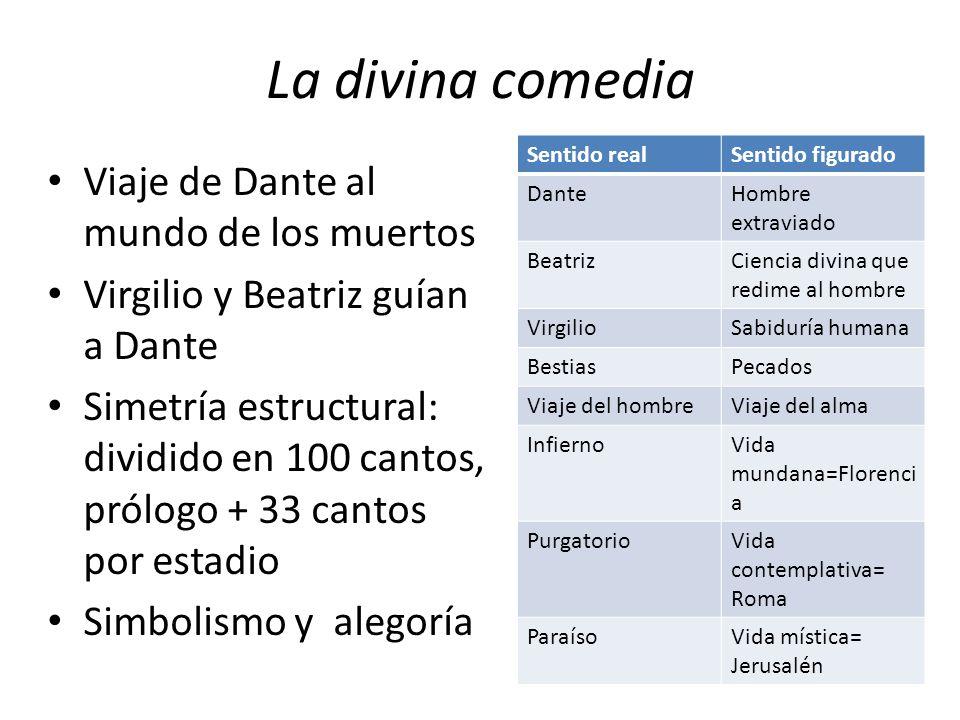 La divina comedia Viaje de Dante al mundo de los muertos
