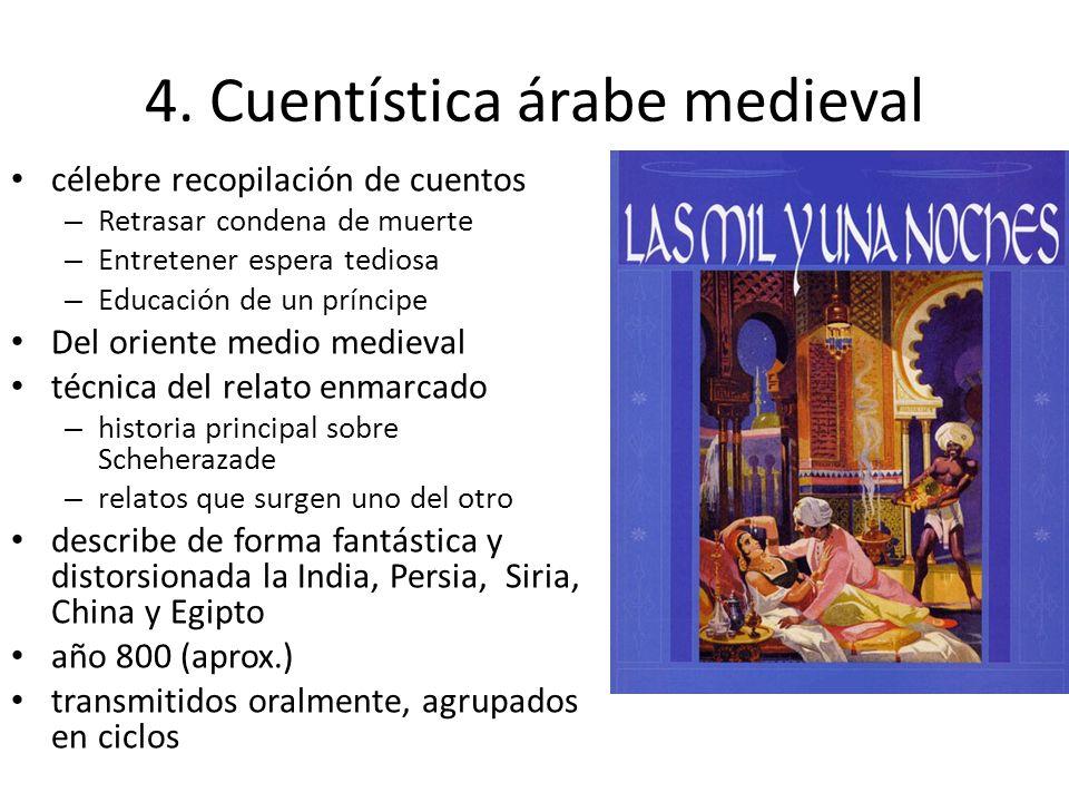 4. Cuentística árabe medieval