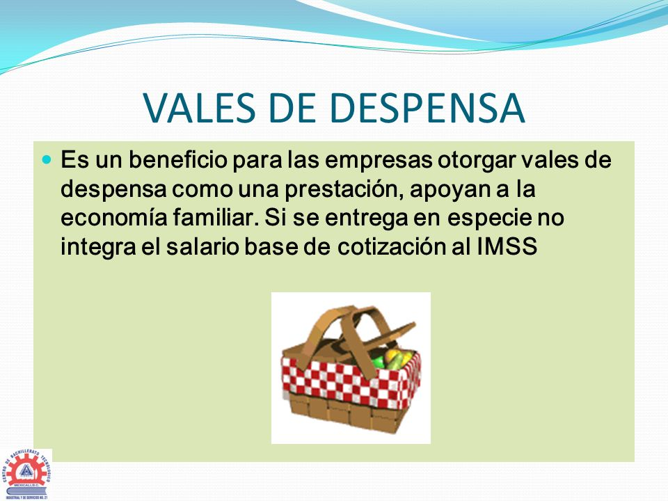 VALES DE DESPENSA