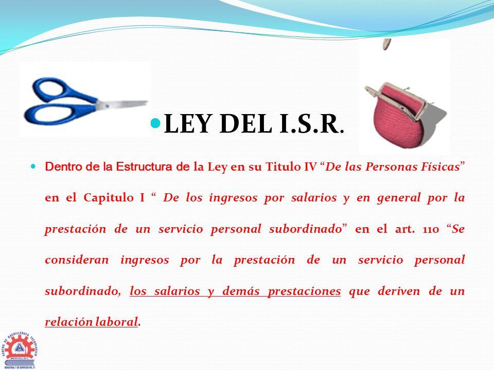 LEY DEL I.S.R.