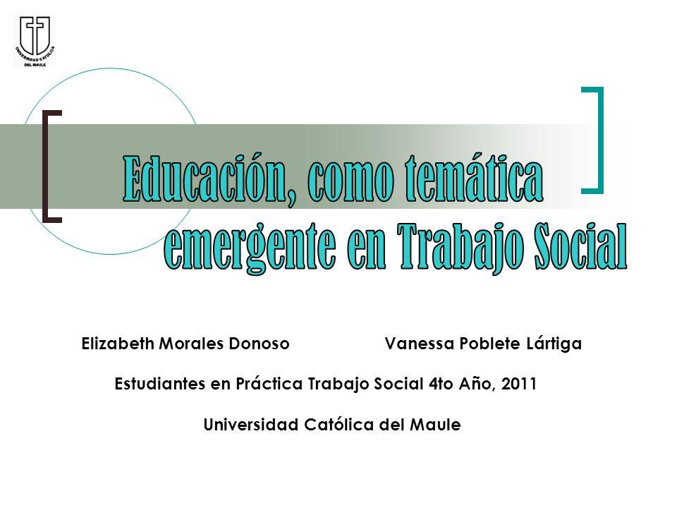 Educación, como temática emergente en Trabajo Social