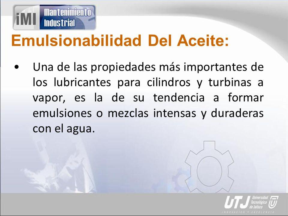 Emulsionabilidad Del Aceite: