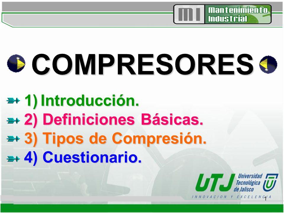 COMPRESORES 1) Introducción. 2) Definiciones Básicas