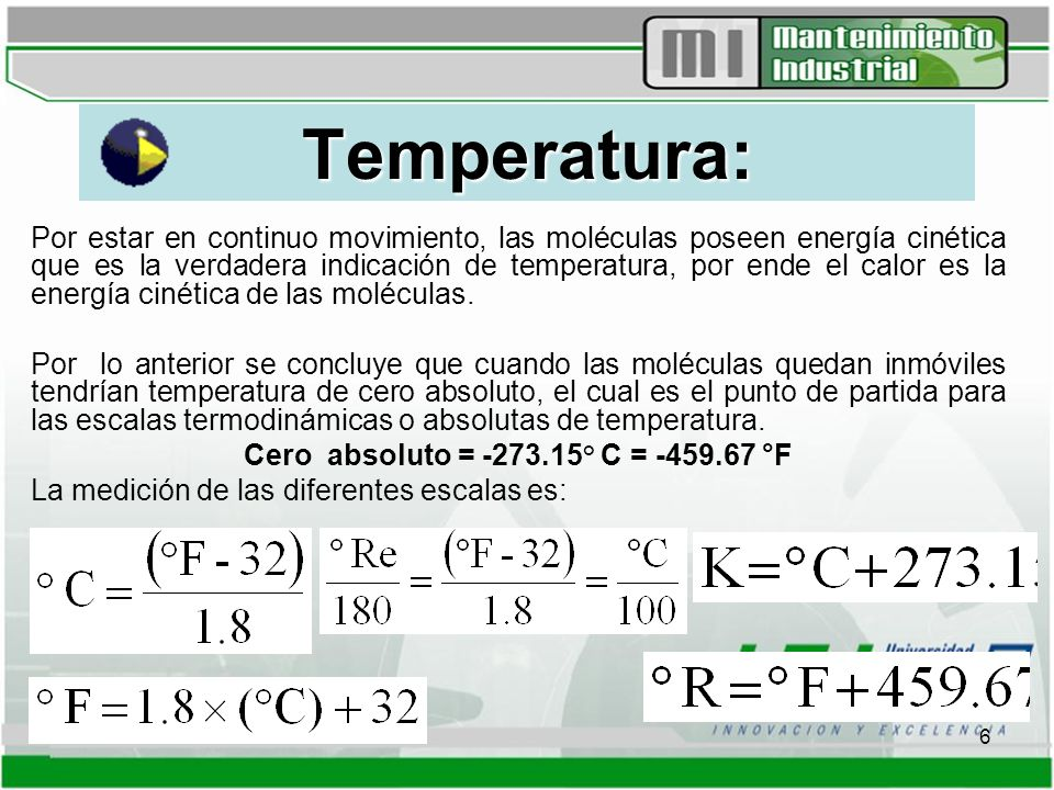 Cero absoluto = -273.15° C = -459.67 °F