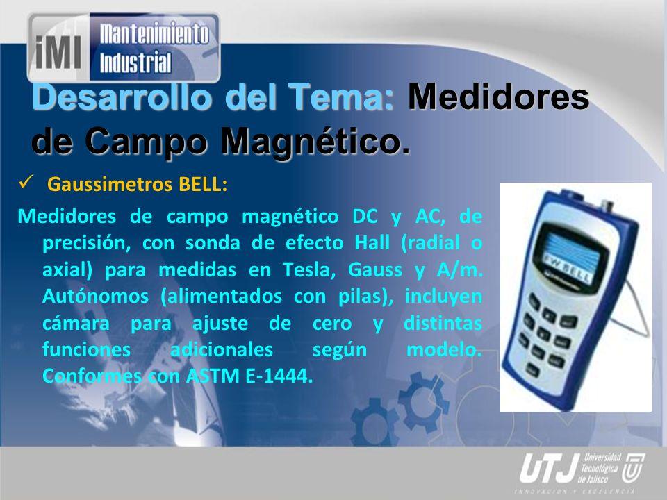 Desarrollo del Tema: Medidores de Campo Magnético.