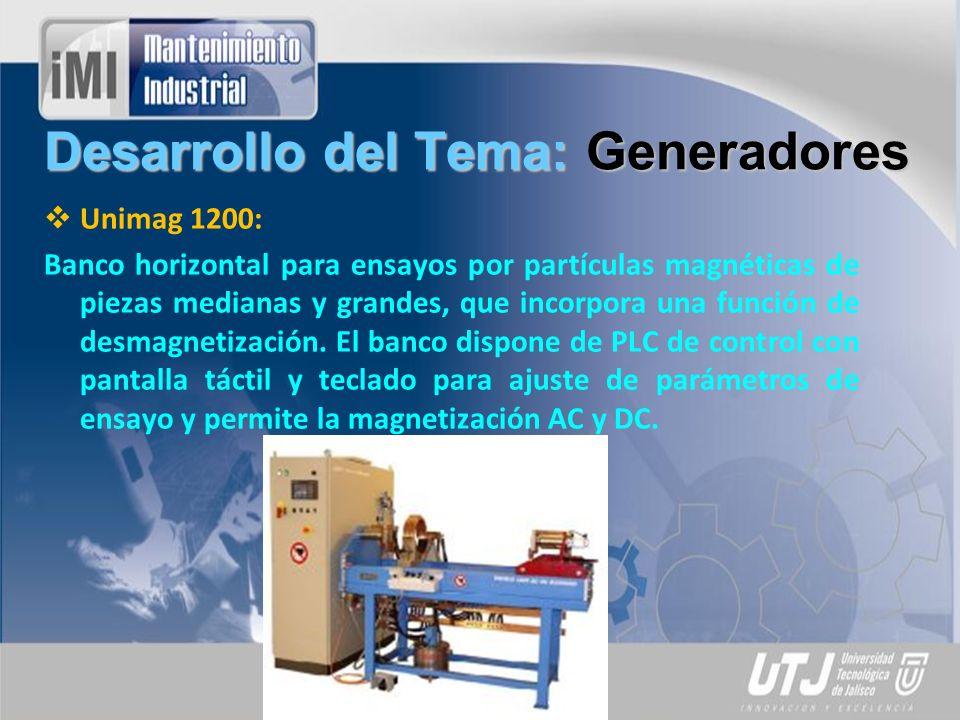 Desarrollo del Tema: Generadores