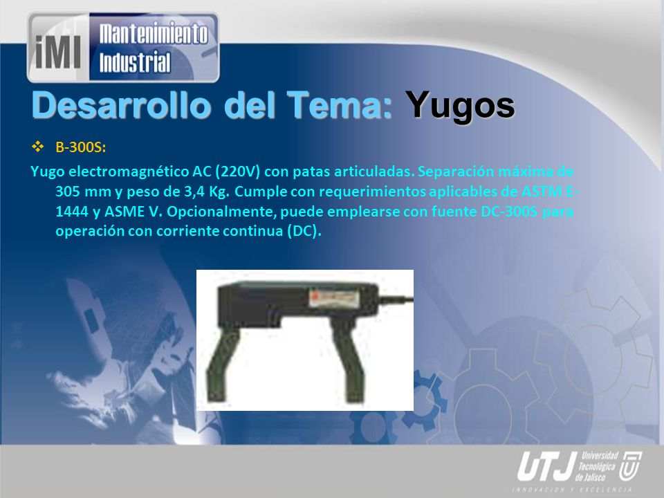 Desarrollo del Tema: Yugos