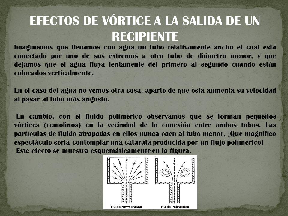 EFECTOS DE VÓRTICE A LA SALIDA DE UN RECIPIENTE