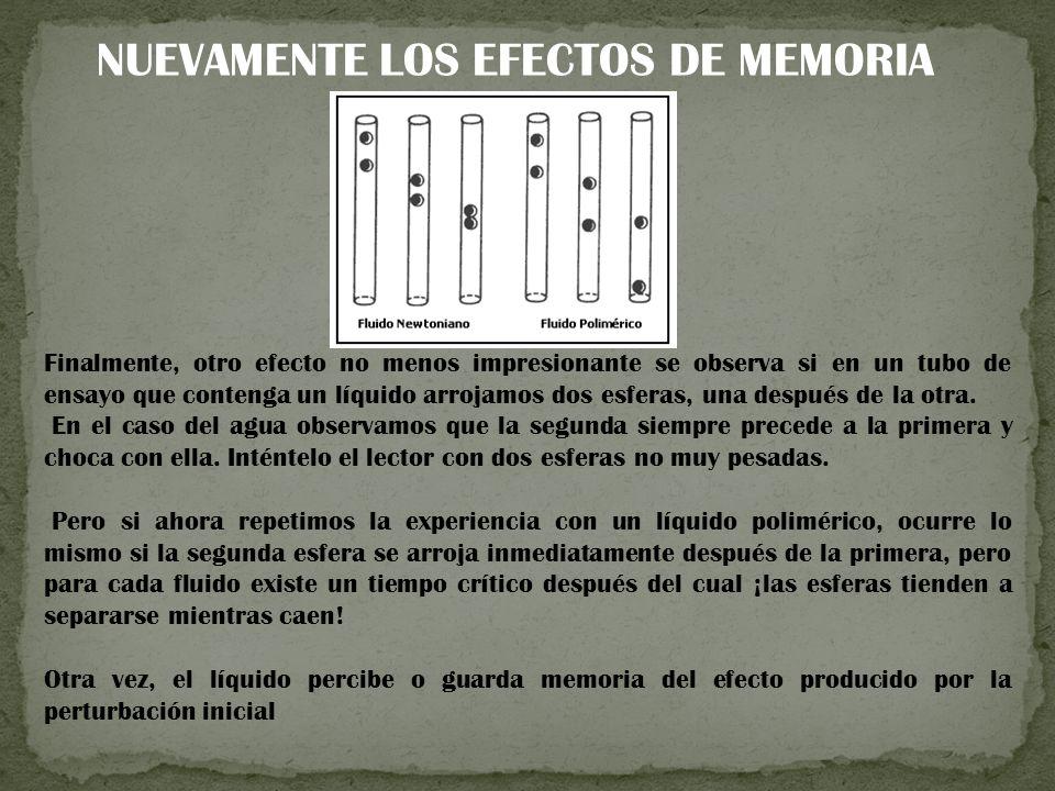 NUEVAMENTE LOS EFECTOS DE MEMORIA