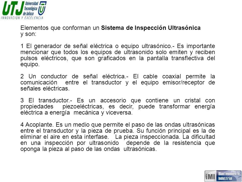 Elementos que conforman un Sistema de Inspección Ultrasónica