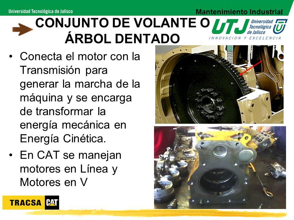 CONJUNTO DE VOLANTE O ÁRBOL DENTADO