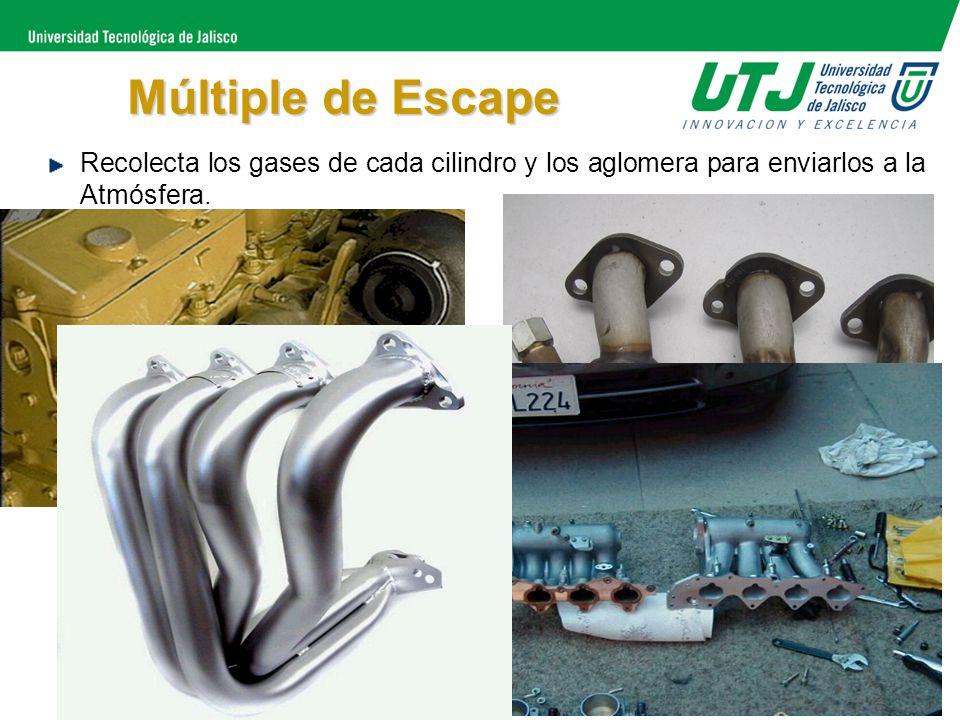 Múltiple de EscapeRecolecta los gases de cada cilindro y los aglomera para enviarlos a la Atmósfera.
