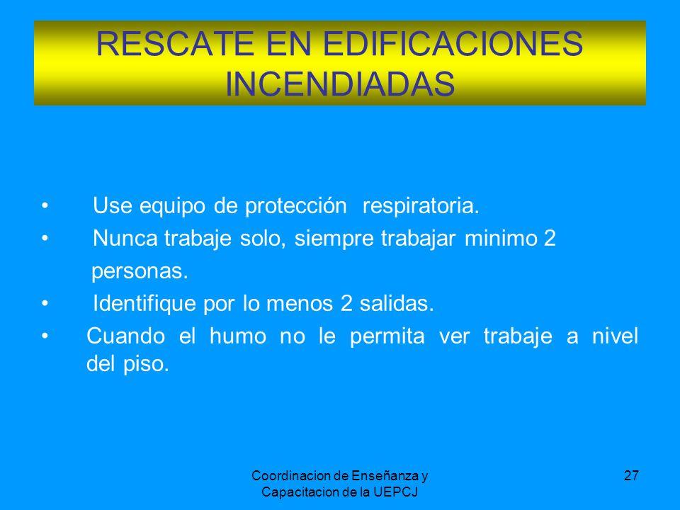 RESCATE EN EDIFICACIONES INCENDIADAS