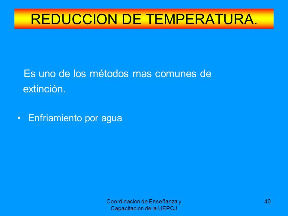 REDUCCION DE TEMPERATURA.